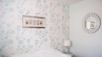 Pretty Flower Wallpaper, Bedroom Feature Wall