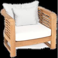 OASIQ HAMILTON Lounge Chair With Canvas Natural Cushions
