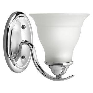 Progress Lighting 1-100W Medium Bath Bracket, Polished Chrome