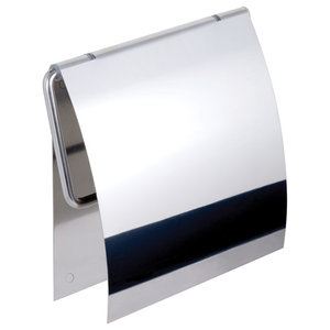Kapitan Stainless Steel Toilet Roll Holder With 3M Self Adhesive Backing