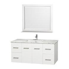 "48"" Single Bathroom Vanity With Undermount Sink and 36"" Mirror"
