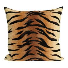 "Visions I Tiger Pillow, Brown, 20""x20"""