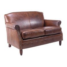 Ancient Mariner Furniture - Vintage Leather Loveseat - Love Seats