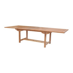 43-inchx77-97-117-inch Double Rectangular Extension Table
