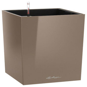 Cube Self Watering Planter, 40x40x40 CM, Taupe
