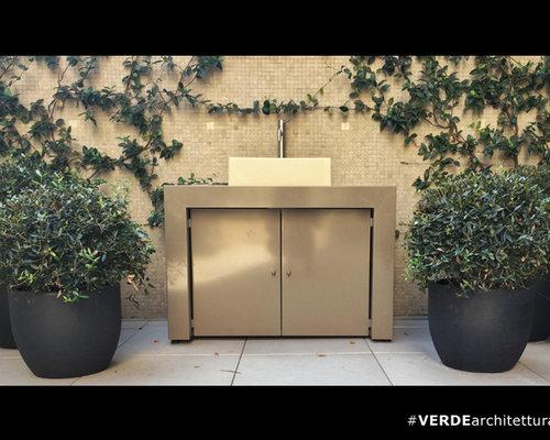 Sistema lavabo per ambiente terrazzo