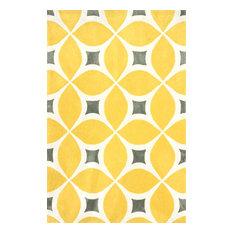 Hand-Tufted Gabriela Area Rug, Sunflower, 6'x9'
