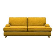 Prague 3-Seater Sofa, Mustard