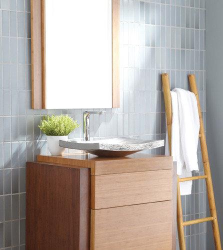 harmony wall mount bamboo bath vanity by native trails bathroom vanities and sink consoles - Bamboo Vanity Bathroom
