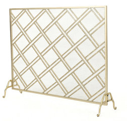 Transitional Fireplace Screens by GDFStudio