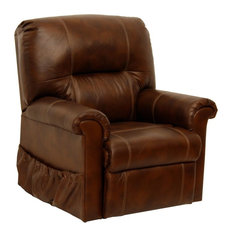 Catnapper Vintage Power Lift Full Lay-Out Chaise Recliner, Tobacco