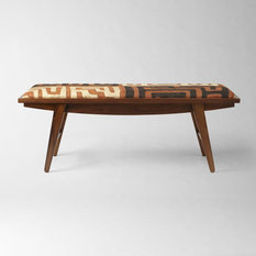 - Kuba Crescent Bench - Patchwork - Upholstered Benches