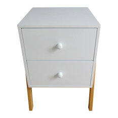 Charles Bentley Children's 2-Drawer Bedside Table, White