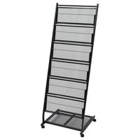 vidaXL Magazine Rack Black A4 Cabinet Storage Newspaper Rack Holder Furniture