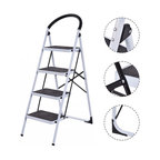 Costway 4 Step Ladder Folding Stool Heavy Duty 330Lbs Capacity Lightweight