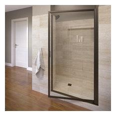 "Sopora 27.75-29.5"" Pivot Shower Door, Clear Glass, Oil Rubbed Bronze"
