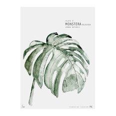 """Botanic Urban Plate 3, Monstera"" Print, Medium, 40 x 50 cm"