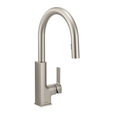 Moen Sto 1-Handle High Arc Pulldown Kitchen Faucet, Spot Resist Stainless