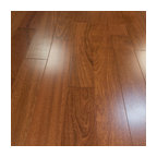 "5""x1/2"" Brazilian Cherry Prefinished Engineered Wood Floor, 2mm, 1 Box"