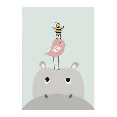 "Hippo, 8""H x 10""W x 0.1""D"
