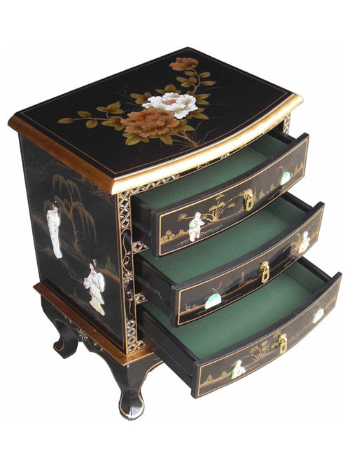 Chinese Black Lacquer Furniture Mother of Pearl Furniture