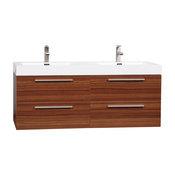 "54"" Modern Double-sink Vanity Set with Drawers - Teak TN-B1380-TK"