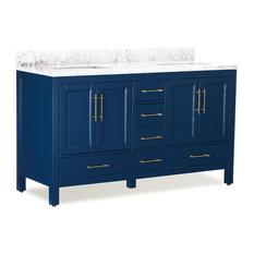 """MOD - Kendall Blue Bathroom Vanity, 60"""" - Bathroom Vanities and Sink Consoles"""