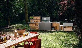 Outdoorküche block im Wald