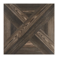Balsa Decor 24 in. x 24 in. Matte Porcelain Floor and Wall tile, Coffee