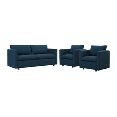 Activate 3 Piece Upholstered Fabric Set Azure