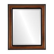 "Wright Framed Rectangle Mirror in Walnut, 21""x27"""