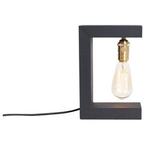 Helsinki Spruce Wood Table Lamp, Black