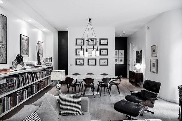 Visite Privée : Écrin parisien en noir et blanc pour couple d'esthètes