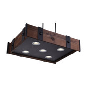 """28"""" 5-Light Chandelier With Black Finish"""