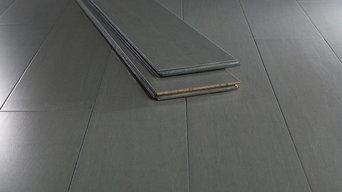 Strand Chrome Dark Wide Plank Bamboo Flooring Sample