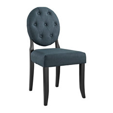 LexMod   Button Dining Side Chair, Gray   Dining Chairs