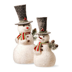 """National Tree Company - 14"""" and 18"""" Snowman Set - Holiday Accents and Figurines"""