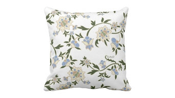 "Floral Pillow ""Arabesque by Cecilie O"