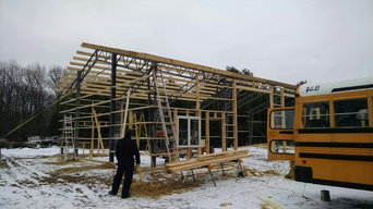 Miracle Truss Building being erected in Michigan