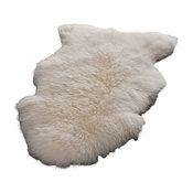 "Animal Inspirations Sheep Skin Area Rug, White, Hallway Runner 2'0""x6'"