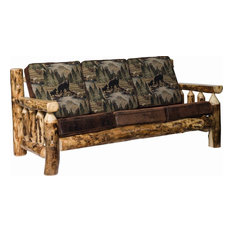 Rustic Aspen Log Living Room Sofa