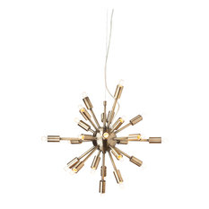 Sputnik Pendant Lamp, Brushed Antique Brass