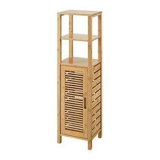 Linon Home Decor Products   Linon Bracken Linen Tower, Natural   Bathroom  Cabinets And Shelves