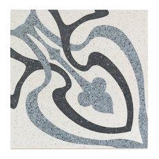 """Branwell 9""""x9"""" Porcelain Field Tile, Horta"""