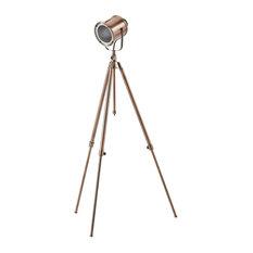 Milton Copper Adjustable Tripod Floor Lamp