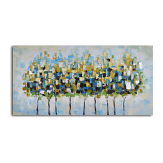 Metropolis trees Hand Painted Canvas Art