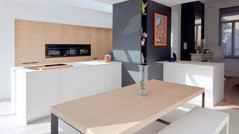 sol de cuisine en résine béton ciré