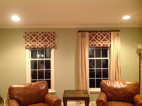 Roman Shades With Curtains Or Not