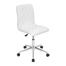 LumiSource Caviar Office Chair, White