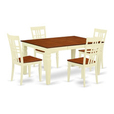 5-Piece Kitchen Table Set With A Dinning Table And 4 Wood Chairs Buttermilk